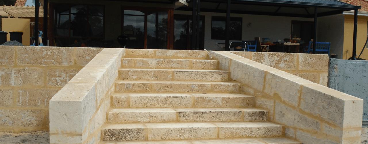 limestone retaining walls Perth hills